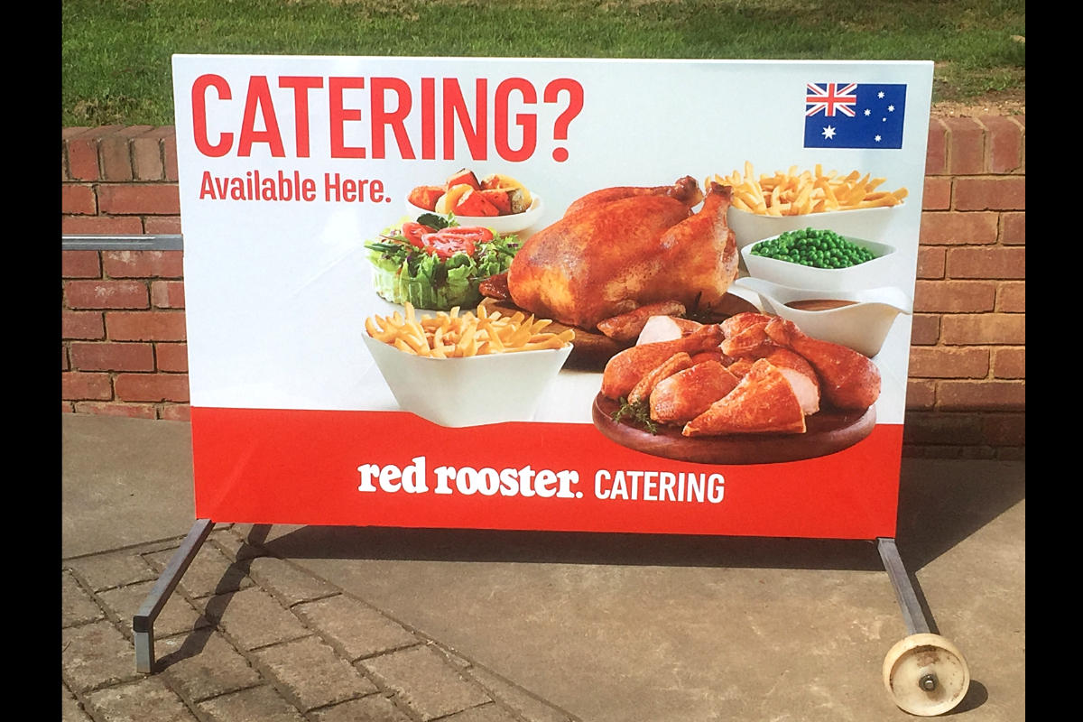 Catering Wheeled A Board Sign by Signspec Signs