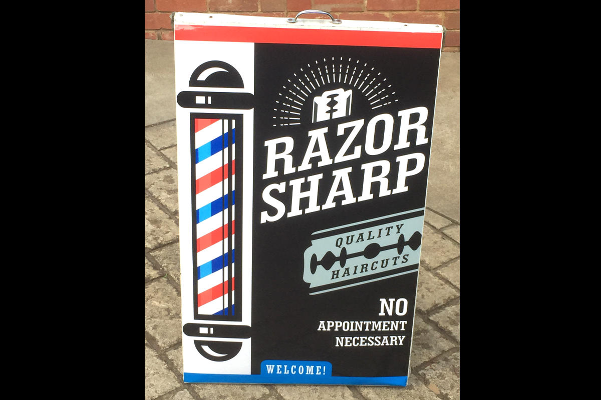 Hairdressing A Board Sign by Signspec Signs