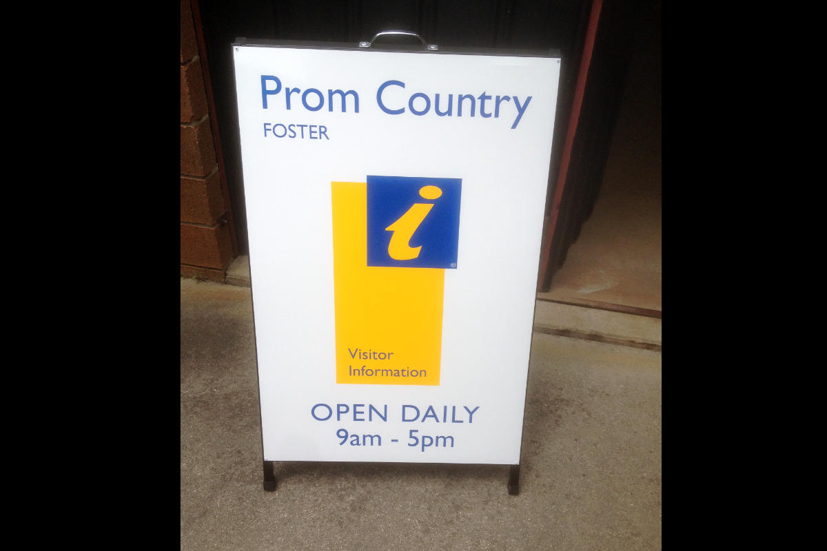 Prom Country Visitor Information Centre A Frame Board