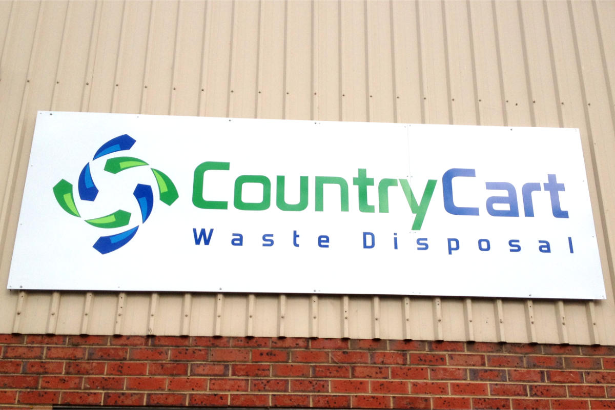 Building Signage for Country Cart Waste Disposal Leongatha