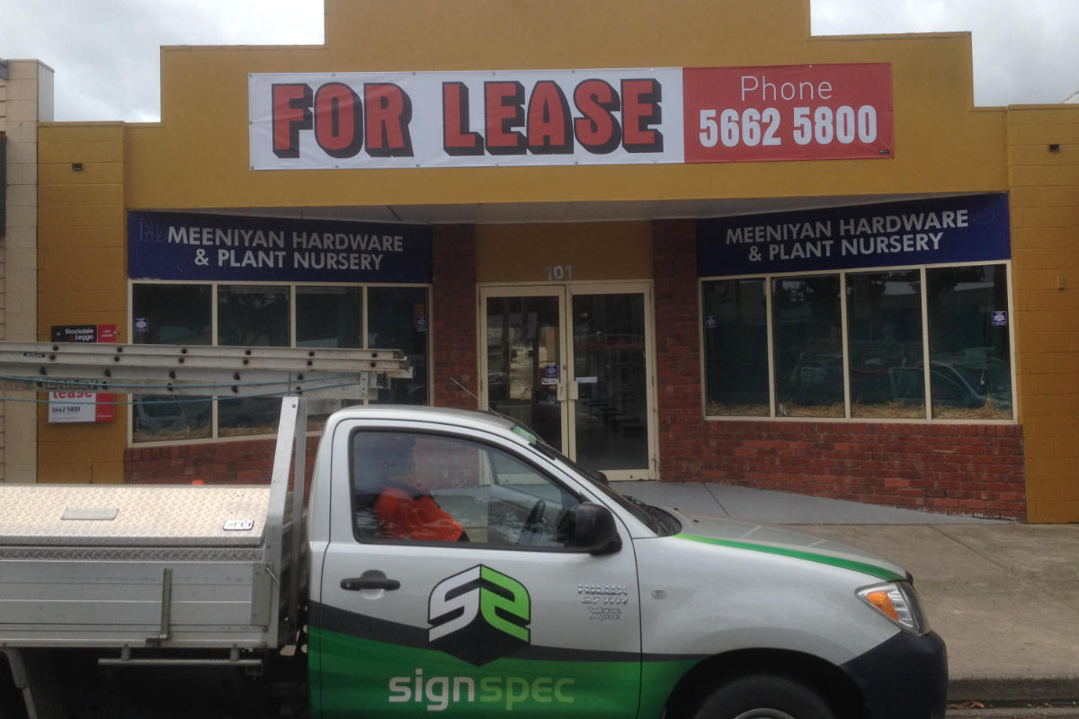 Meeniyan For Lease Building Sign