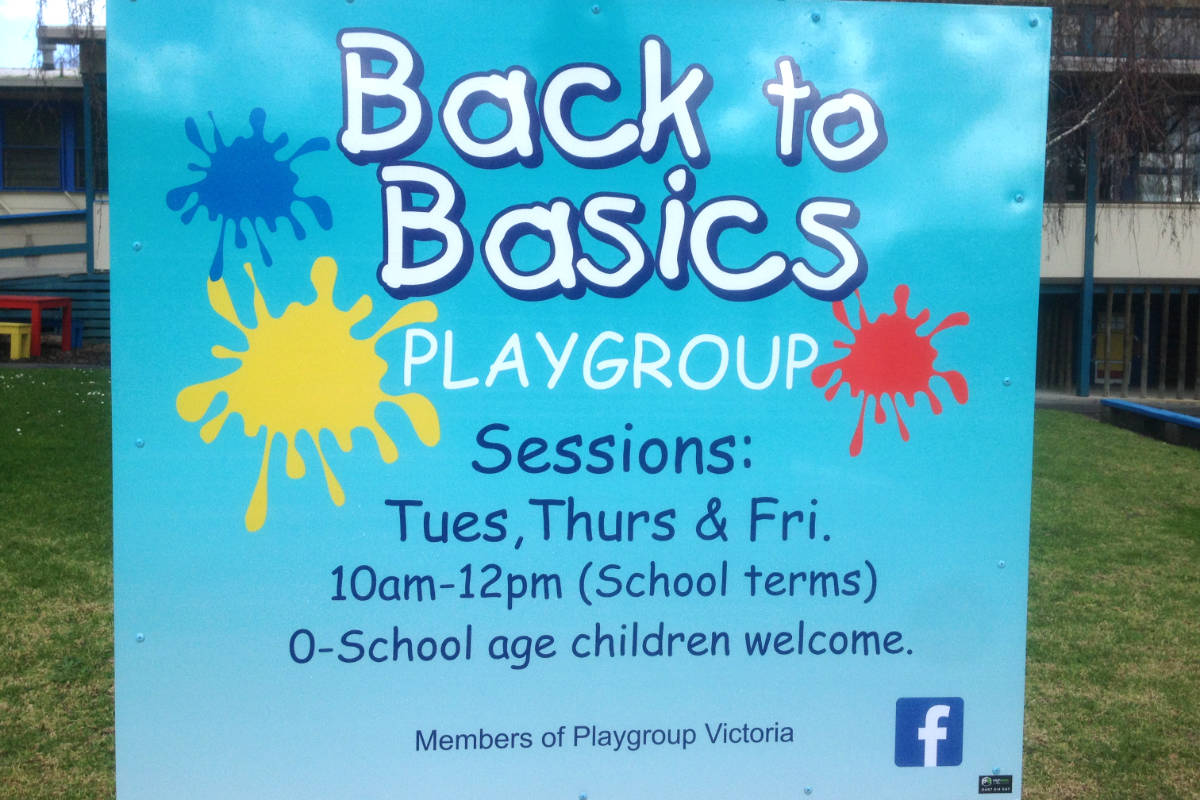 Playgroup building sign