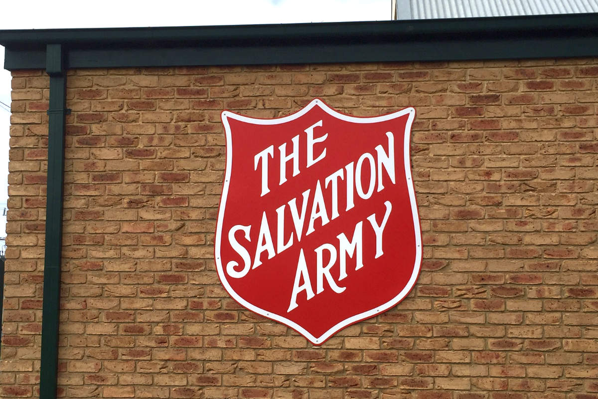 Salvos Wonthaggi building sign by Signspec