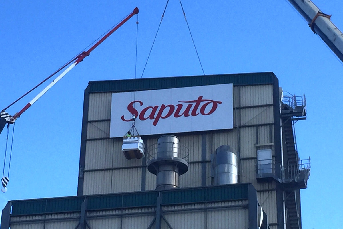 Saputo dairy factory building sign by Signspec Leongatha