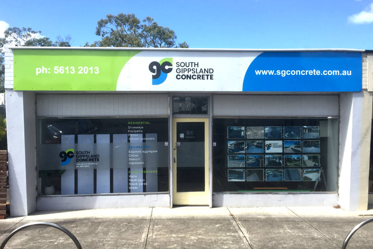South Gippsland Concrete building sign by Signspec