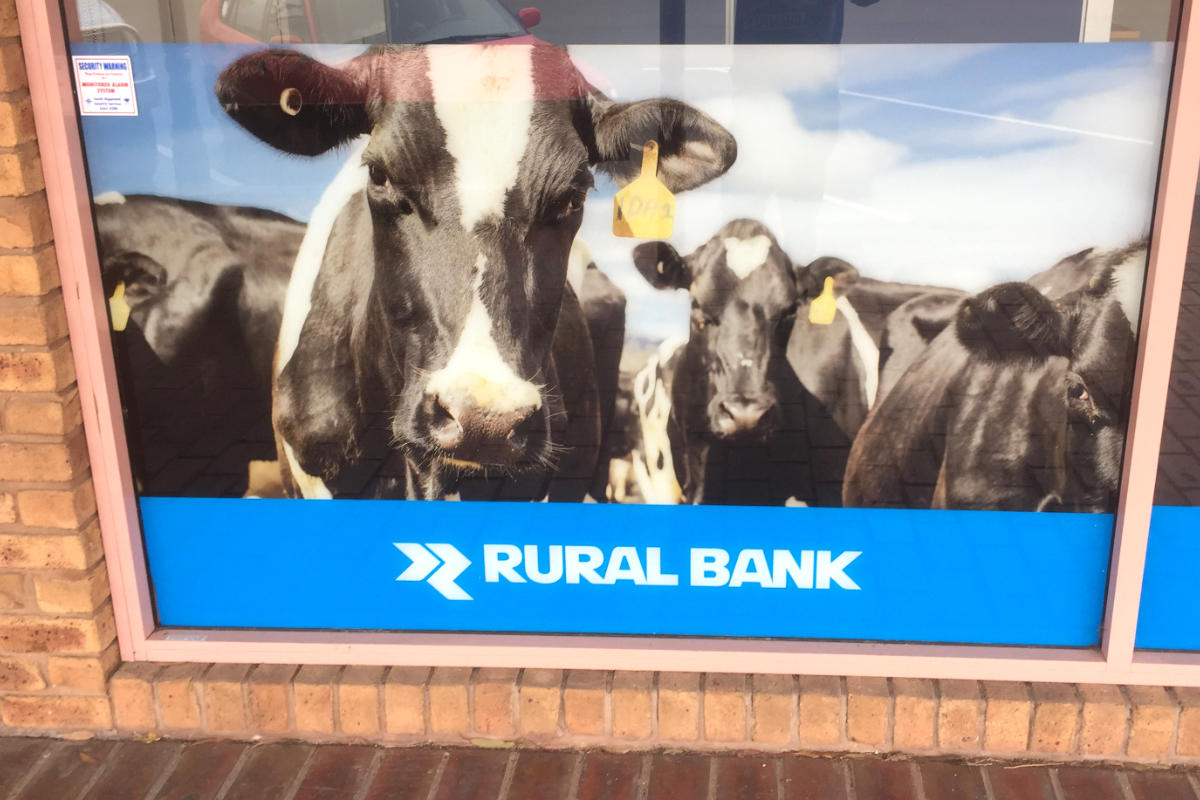 Bank digitally printed window sign by Signspec Signs Leongatha