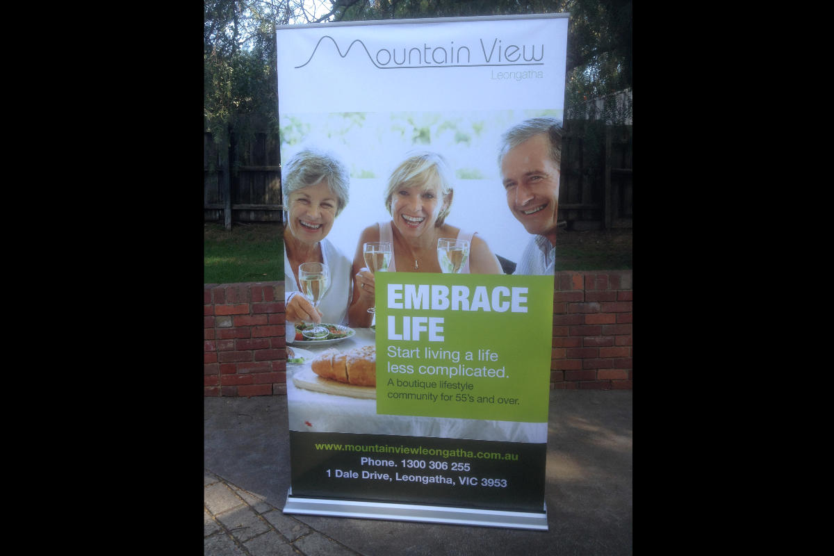 Digital banner printing for Mountain View Leongatha