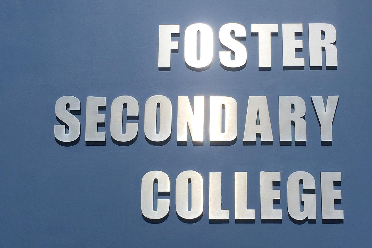Foster school dimensional sign