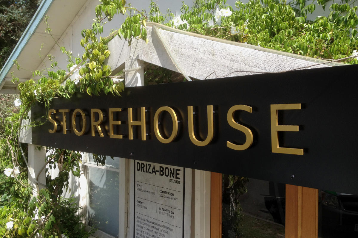 Storehouse dimensional sign