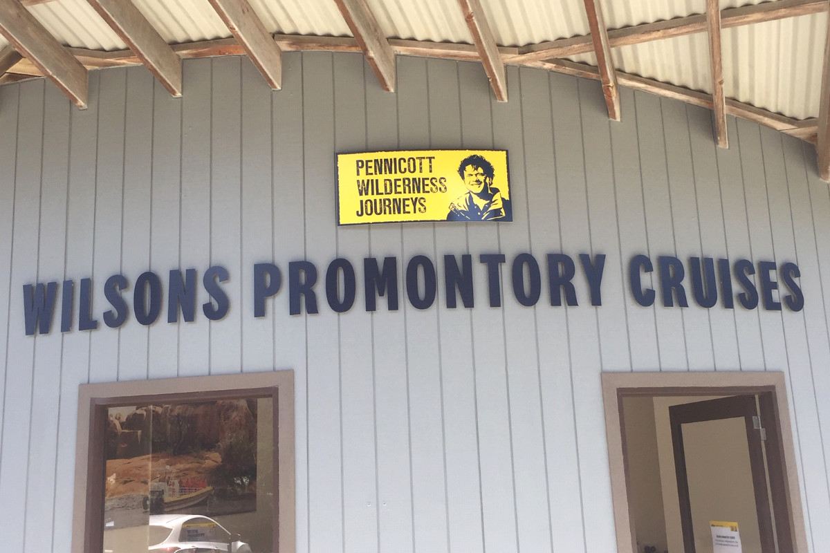 Wilsons Promontory Cruises dimensional office signage by Signspec Signs