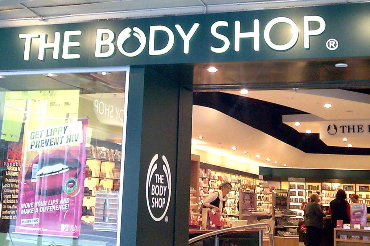 Illuminated light box for The Body Shop