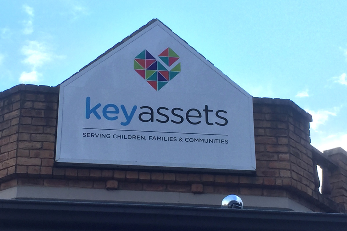 Illuminated sign for Key Assets childrens services by Signspec Signs