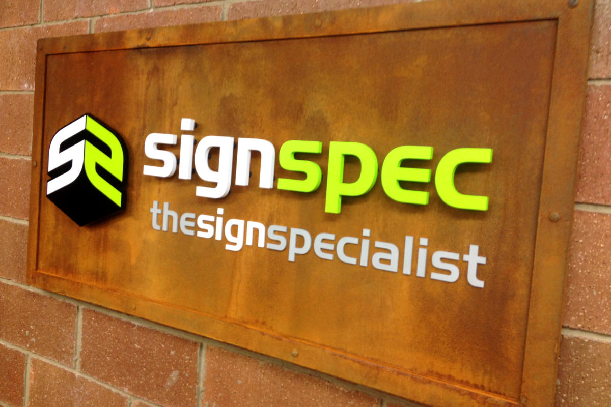 Reception Sign at Signspec - The Sign Specialist
