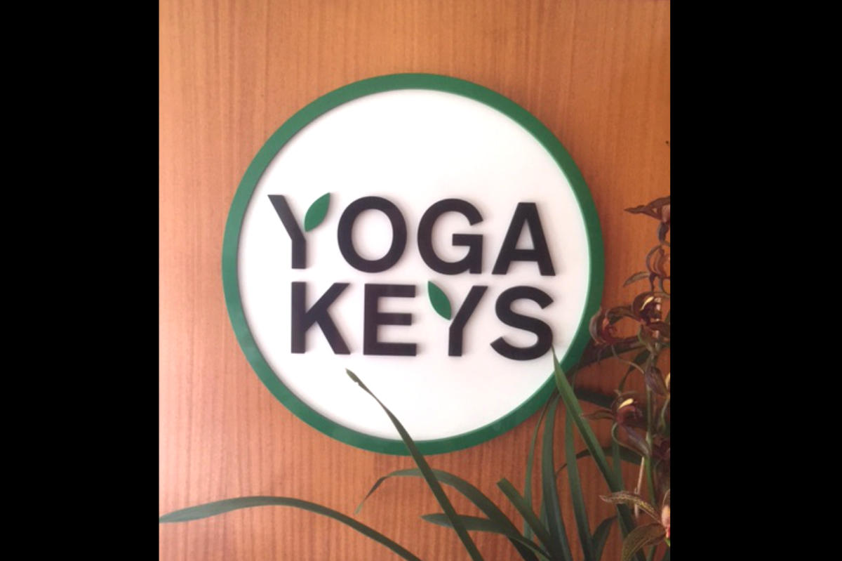 Yoga Keys reception sign by Signspec Signs