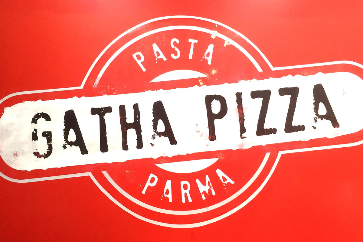 Handpainted Gatha Pizza Sign
