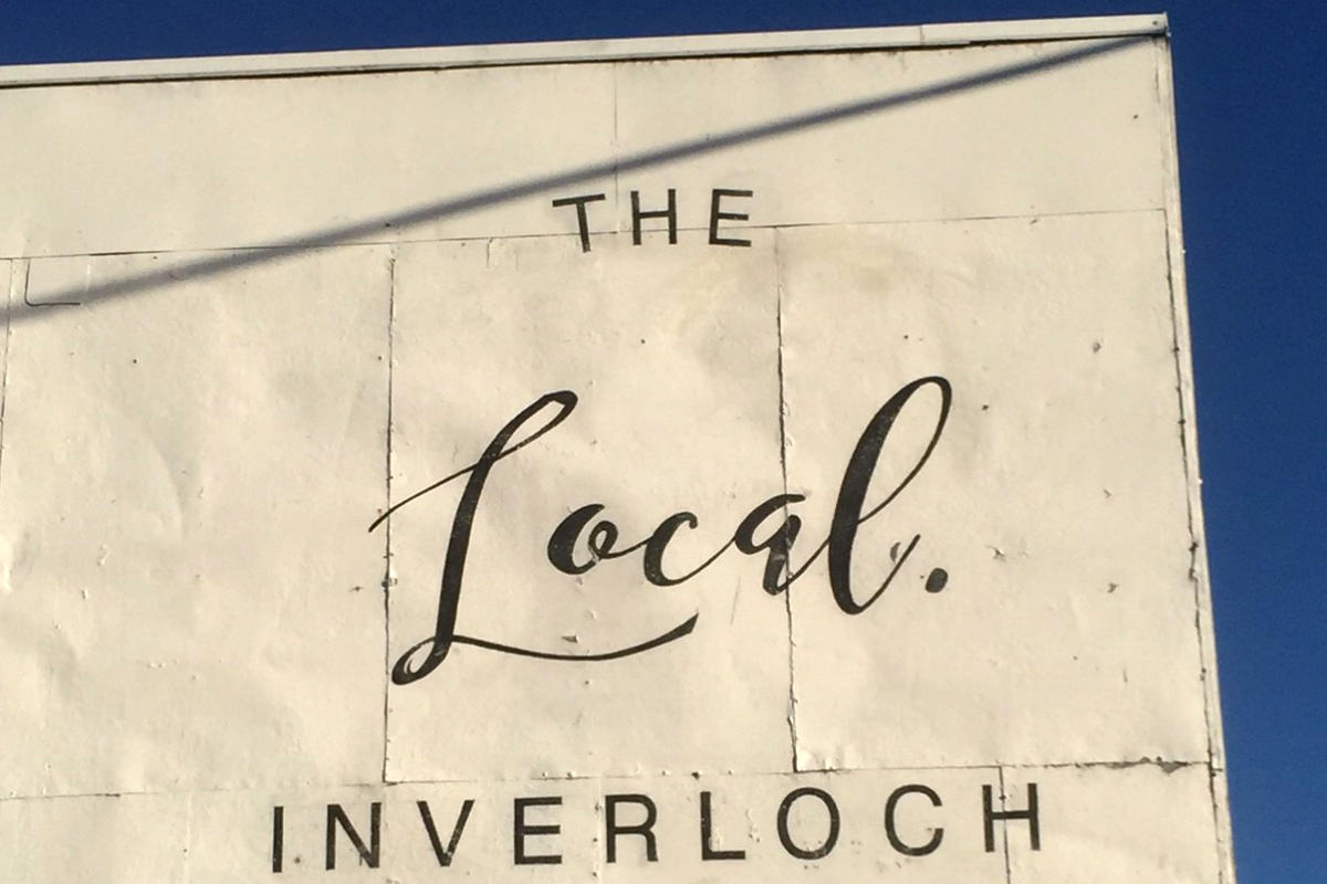 Inverloch Local traditional hand painted sign by Signspec Signs