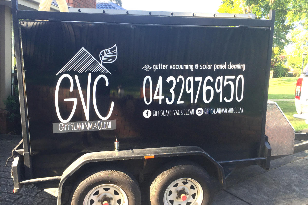 Gippsland cleaning trailer signage by Signspec Signs