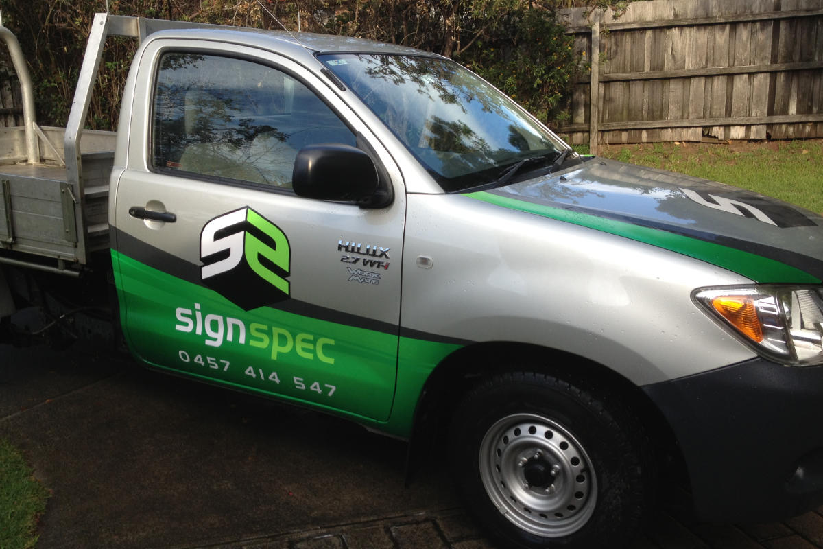 Vehicle wrap for signspec - the sign specialist